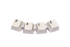 Word collected from computer keypad buttons sale isolated Royalty Free Stock Photo