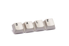 Word collected from computer keypad buttons sale isolated Royalty Free Stock Images