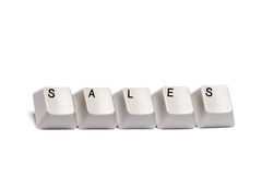 Word collected from computer keypad buttons sales isolated Royalty Free Stock Photo