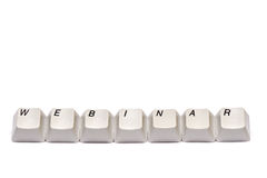 Word collected from computer keypad buttons webinar isolated Royalty Free Stock Photography