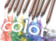 The word color Royalty Free Stock Image