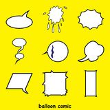Word comic balloon vector. elements of verbal or textual communication. Designs can be applied to print, digital and other media according to your needs vector illustration