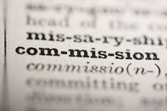 Word commission Stock Photography