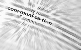 Word Communication Stock Photo