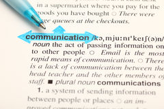 The word communication on dictionary Stock Photography
