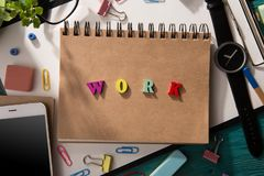 Word composed of colorful letters. Work - word composed of colorful letters stock photography