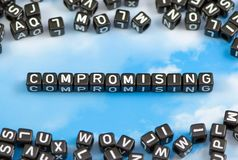 The word compromising Stock Photography