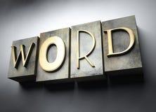 Word concept, vintage letterpress text Stock Photo