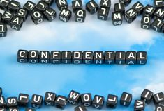 The word confidential Royalty Free Stock Photo