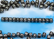 The word confidentially Royalty Free Stock Images