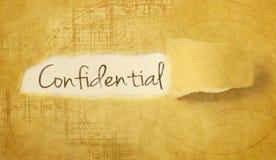 Word confidentiel Photo stock