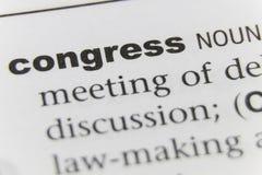 Word Congres Dichte Omhooggaand royalty-vrije stock fotografie