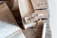 The word Content. Royalty Free Stock Image