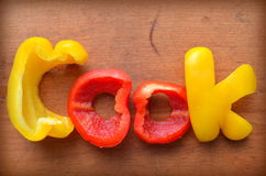 The word cook Stock Images