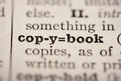 Word copybook Royalty Free Stock Image
