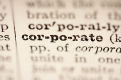 Word Corporate Stock Image