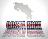 Word Costa Rica on a map background Royalty Free Stock Photos