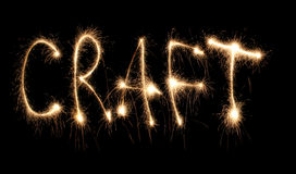 Word craft written sparkler Stock Photography