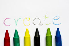 The word create written on paper. Royalty Free Stock Images