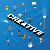 Word creative with people and tags Royalty Free Stock Image