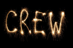 Word crew written sparkler Royalty Free Stock Photo