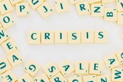 The word crisis isolated Royalty Free Stock Image