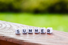 Word of the cubes summer Stock Photography