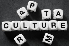 Word culture on toy cubes. Word culture  on white toy cubes Royalty Free Stock Photography