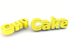 Word cupcake in 3d Royalty Free Stock Photo