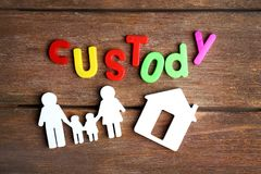 Word CUSTODY made of colorful letters Royalty Free Stock Images