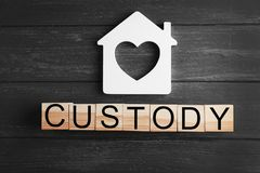 Word CUSTODY made of wooden blocks Royalty Free Stock Image