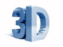 Word 3D op witte achtergrond. Royalty-vrije Stock Afbeeldingen