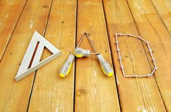 Word `DAD` arranged from tools. Royalty Free Stock Photography