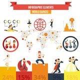 Word dances infographic elements poster Royalty Free Stock Image