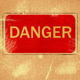 Word  DANGER  Royalty Free Stock Photography