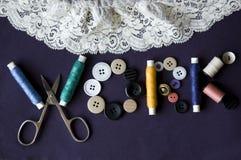 Word dat van het naaien van uitrusting wordt gemaakt Royalty-vrije Stock Afbeelding