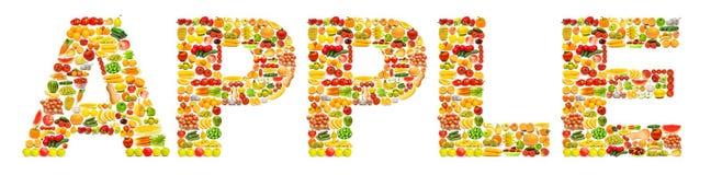 Word dat van vruchten wordt gemaakt Royalty-vrije Stock Foto's