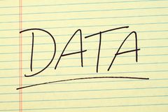 Data On A Yellow Legal Pad Royalty Free Stock Photo