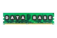 Word Database on computer memory Stock Image