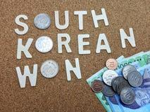 Word de sud-coréen gagné photographie stock