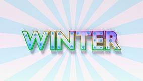 Word de winter het 3d teruggeven Stock Afbeeldingen