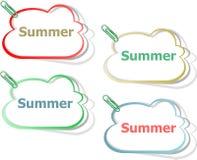 Word de zomerconcept op knoop Banner, Webknoop of bericht voor online website Royalty-vrije Stock Foto