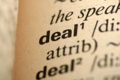 Word Deal in a dictionary Royalty Free Stock Photo