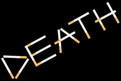 Word Death from cigarettes Stock Image