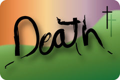 The word 'Death' Stock Image