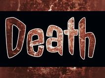 The word death on the scary background vector illustration