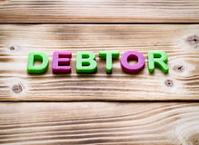 Word debtor Royalty Free Stock Image