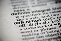 Word Definition in the Dictionary Royalty Free Stock Photo