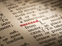 Word definition succeed Royalty Free Stock Photo