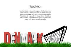 Denmark and a soccer ball at the gate Stock Images